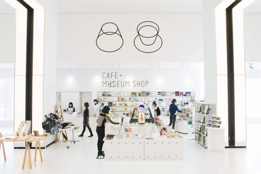 靜岡藝術中心博物館店及咖啡廳外景照片