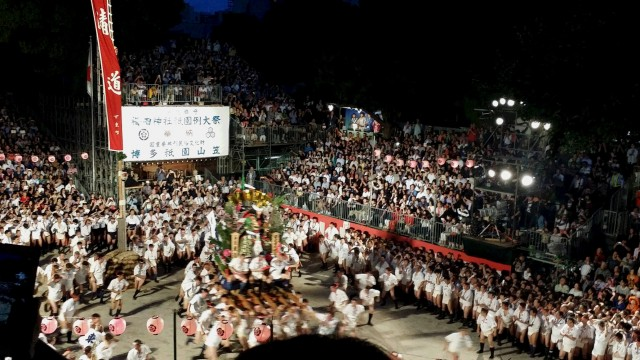 博多祇園山笠・追い山(7月15日 福岡市・櫛田神社)