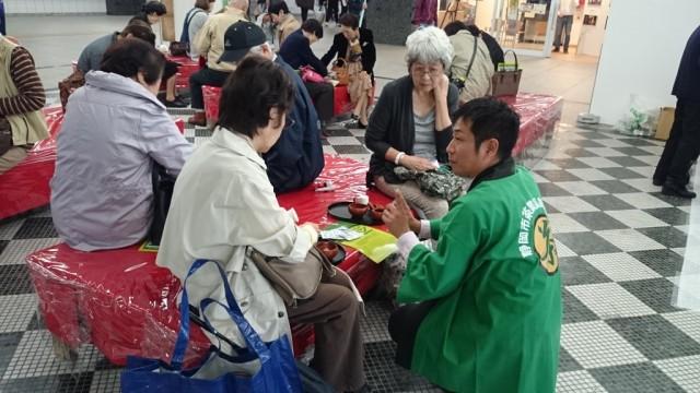 静岡市「お茶の日」をエキチカでPR!我流茶席は大盛況でした。